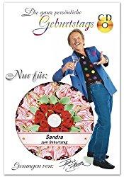 Die persönliche Geburtstags-CD von Frank Zander als Geschenk