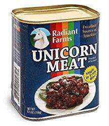 Witziges Geschenk für Einhornfans ist Einhornfleisch aus der Dose