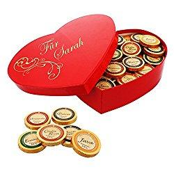 Romantische personalisierte Schoko-Herzbox mit Namensgravur
