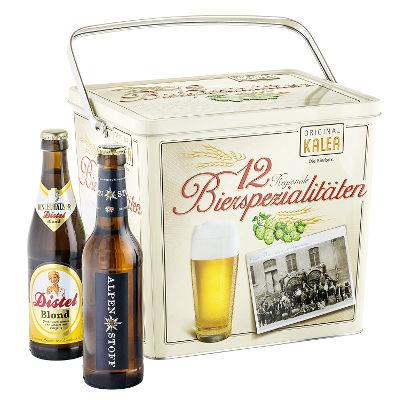 Bierbox mit 12 Bierspezialitäten