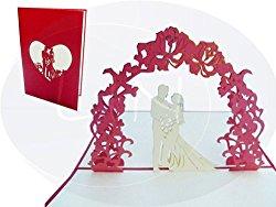 Schöne 3D Hochzeitskarte zur Gratulation