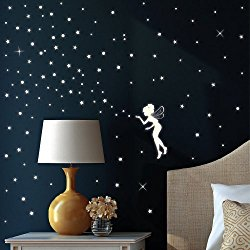 kinderaugen zum strahlen bringen das geschenk leuchtendes wandtattoo elfe macht es m glich. Black Bedroom Furniture Sets. Home Design Ideas