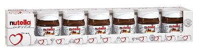 Das perfekte Geschenk für den Schokosüchtigen oder die Schokosüchtige ist die Nutella World mit 7 süßen Mini-Gläsern
