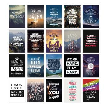 Postkarten mit coolen und motivierenden Sprüchen