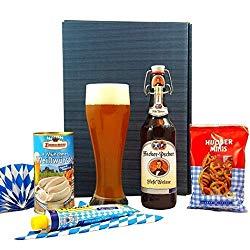 Gastgeschenk aus Deutschland Bayern Geschenkset Oktoberfest mit Glas