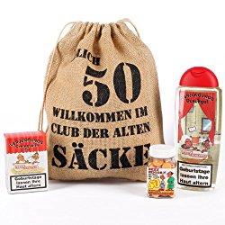 Geschenkset Club der alten Säcke zum 50. Geburtstag