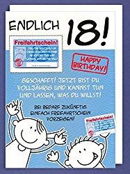 Geburtstag kartensprüche 18 18 Geburtstag