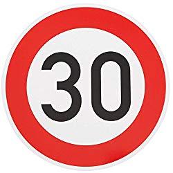 Verkehrsschild 30 Jahre zum runden Geburtstag