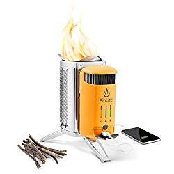 Campingkocher mit Biomasse und USB-Ladegerät