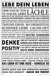 Poster mit Sprüchen Motivation