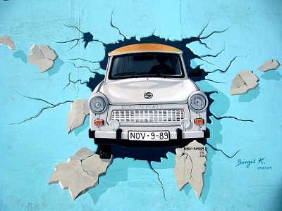 Trabi Graffiti Berliner Mauer