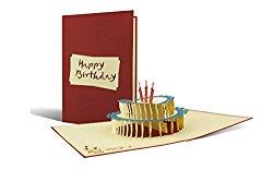 Originelle Karte zum Geburtstag als Origami Torte