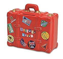 Geldgeschenk für Reisende als Reisekoffer verpacken