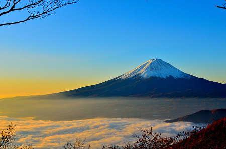 Blick auf den Fuji in Japan, schöne Aussicht