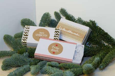Süße Geschenkschachteln für kleine Geschenke und süße Botschaften
