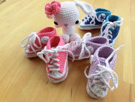 gehäkelte Schuhe für Kinder