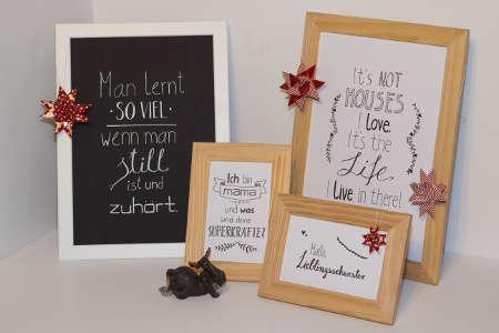 Spruchbilder als persönliches Weihnachtsgeschenk