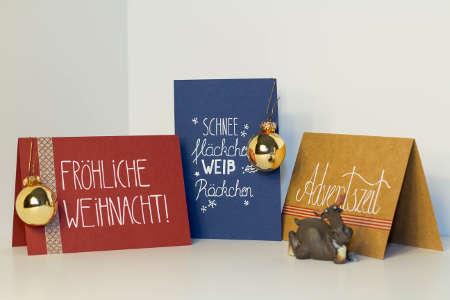 Wunderschöne Weihnachtsgrußkarten mit tolles Design