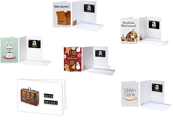Sechs coole Amazon Gutscheine als Last-Minute Geschenkideen