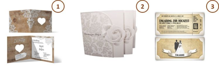 Hochzeitseinladungskarten mit tollen Sprüchen und kreativen Designs