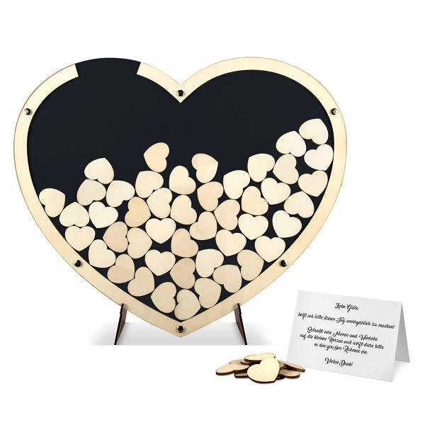 Idee Hochzeitsgästebuch in Herzform