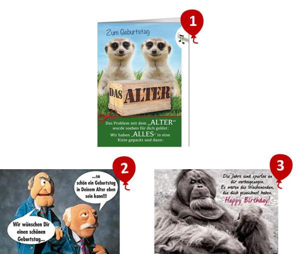lustige Geburtstagskarten mit Sprüchen