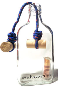 Flaschensafe Knoten als originelles Geldgeschenk