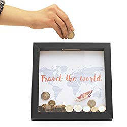 Geldgeschenk Spardose mit Weltkarte