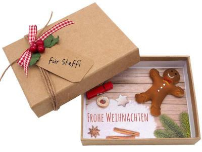 Verpackung für Geldgeschenk oder Gutschein zu Weihnachten