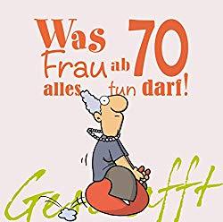 Witziges Buch als Geschenk für Frauen zum 70. Geburtstag