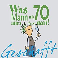 Witziges Buch als Geschenk für Männer zum 70. Geburtstag