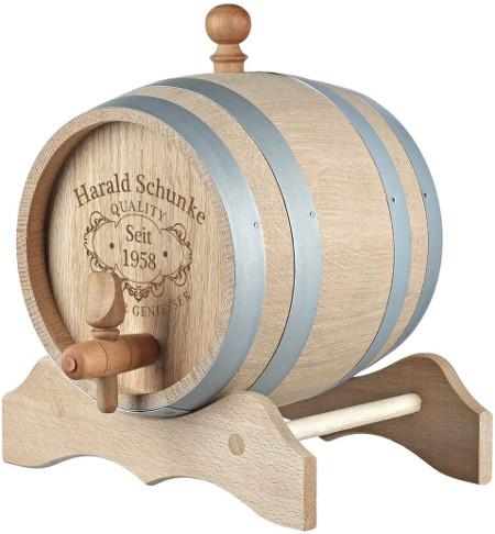 Personalisiertes Weinfass mit Gravur