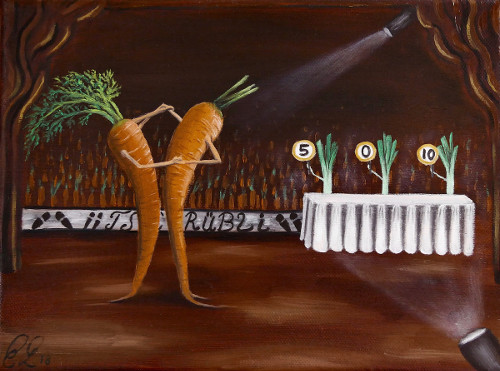 Kunst in der Küche Kalender Karotte
