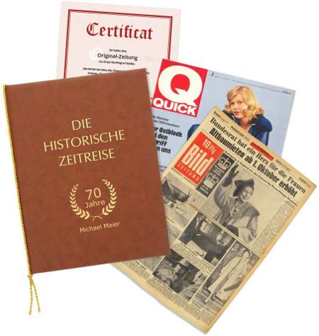 Geschenk zum 70. Geburtstag historische Zeitung