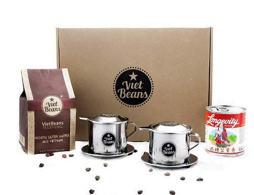 VietBeans vietnamesischer Kaffee Geschenkset für Kaffeefreunde, Vietnamfans und Genießer