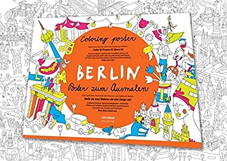Berlin Poster zum Ausmalen