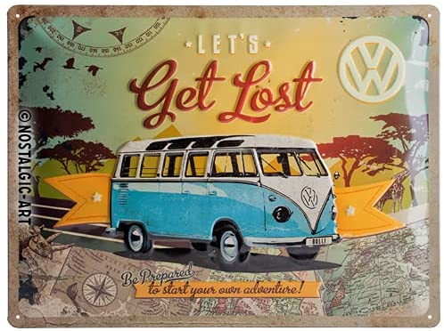 VW Bulli Blechschild Get Lost