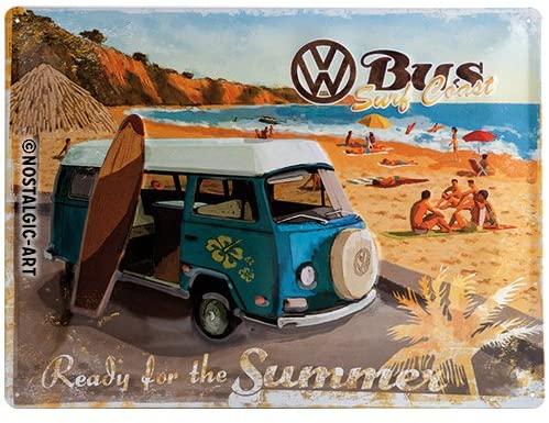 VW Bulli Blechschild Ready for Summer